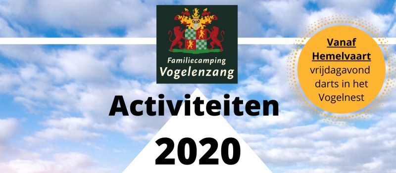 New activity calendar for 2020 announced